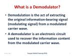 what is a demodulator
