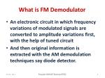 what is fm demodulator