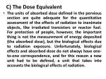 c the dose equivalent