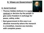ii views on government