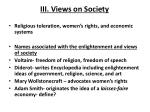 iii views on society