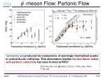 meson flow partonic flow