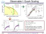 observable i quark scaling