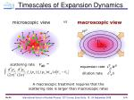 timescales of expansion dynamics