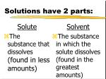 solutions have 2 parts