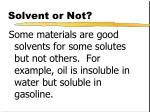solvent or not