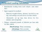 calibrated loading calculation