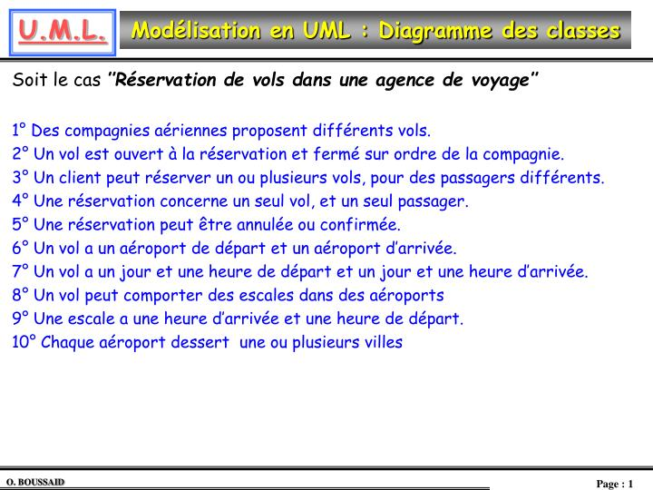 mod lisation en uml diagramme des classes n.