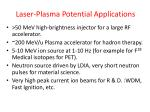 laser plasma potential applications