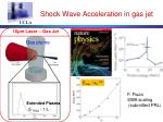 shock wave acceleration in gas jet
