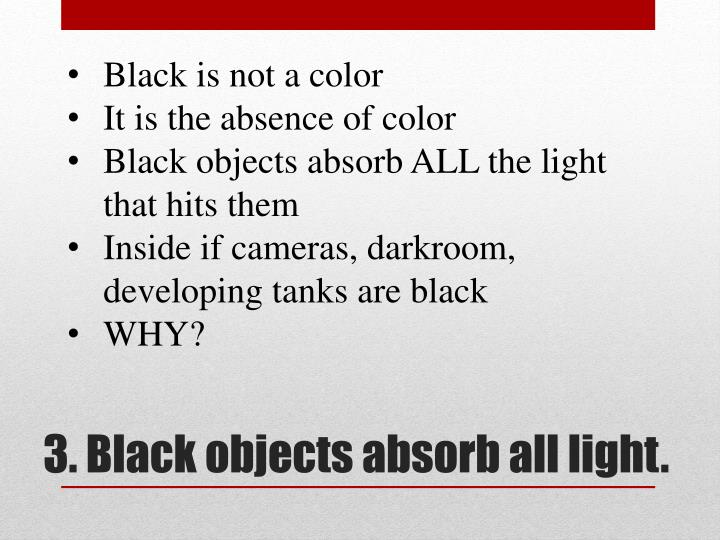 Black is not a color