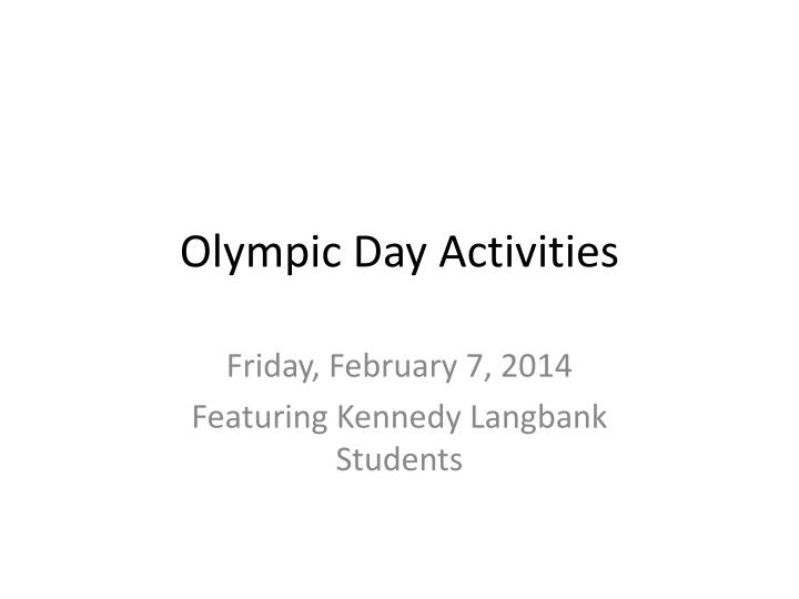 olympic day activities n.