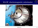kloe electromagnetic calorimeter