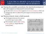 4 electrical shorts localization through magnetic measurements