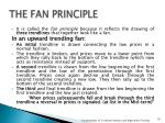 the fan principle