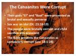 the canaanites were corrupt