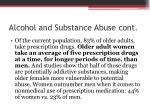 alcohol and substance abuse cont1