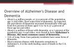 overview of alzheimer s disease and dementia