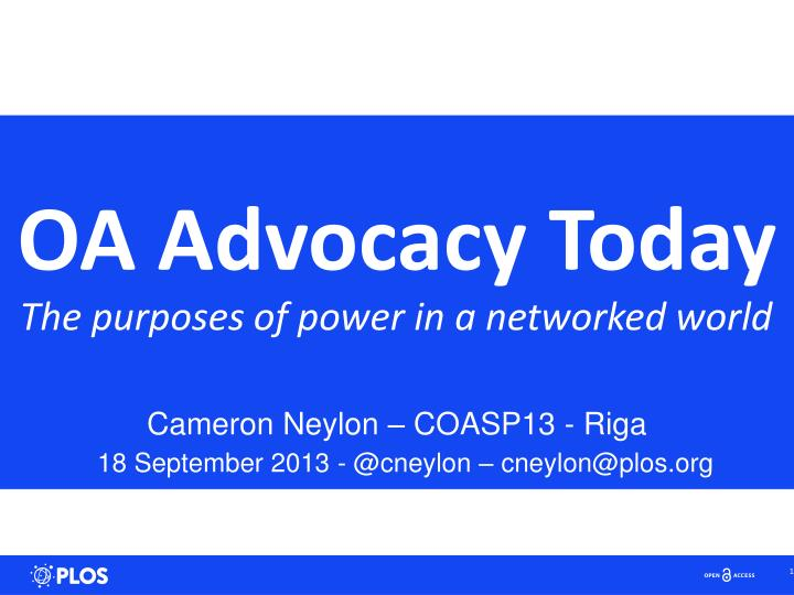 oa advocacy today n.
