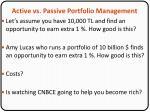 active vs passive portfolio management