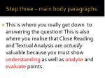 step three main body paragraphs