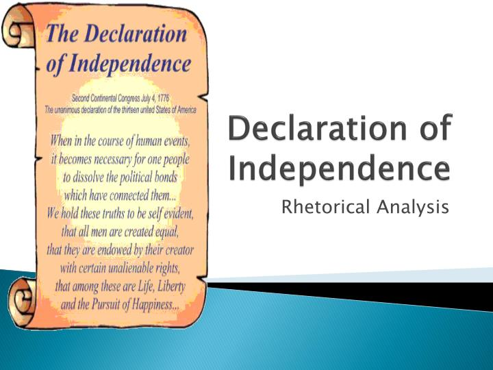 declaration of independence n.