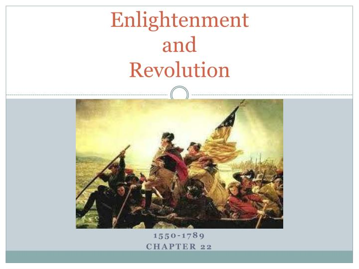 enlightenment and revolution n.