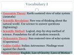 vocabulary i