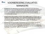 voorbereiding evaluaties managers