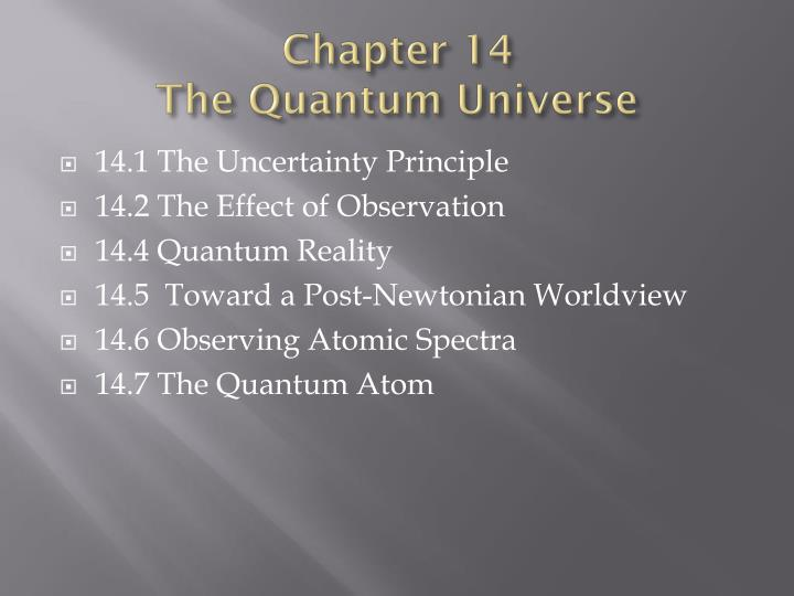 chapter 14 the quantum universe n.