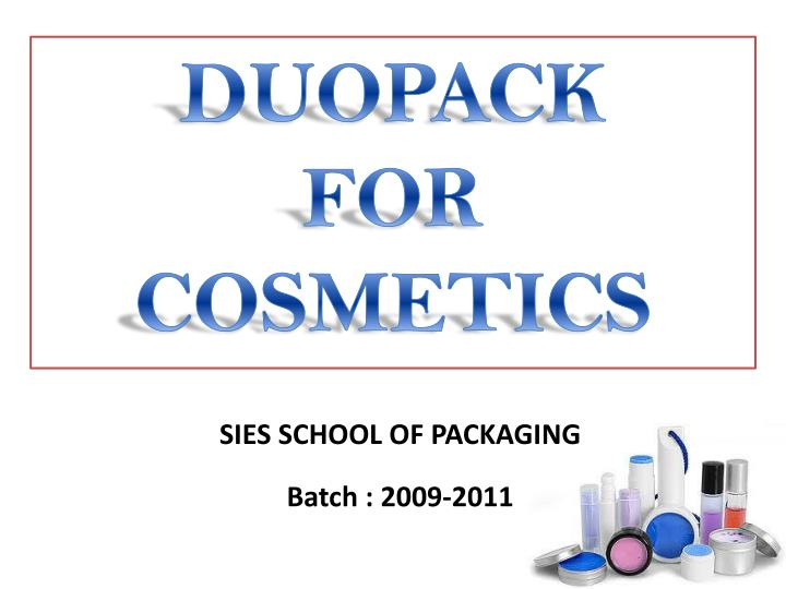 duopack for cosmetics n.