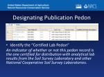designating publication pedon