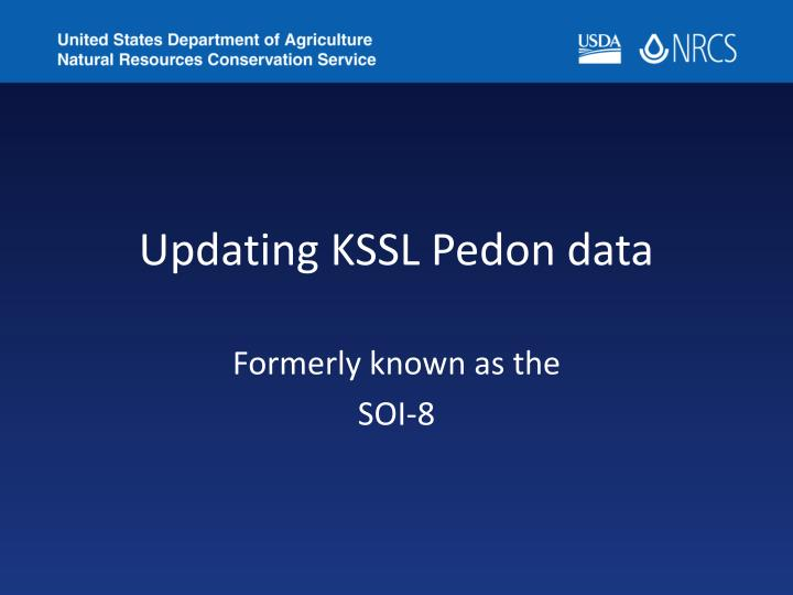 updating kssl pedon data n.