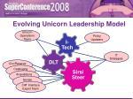 evolving unicorn leadership model