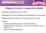 original unicorn leadership model