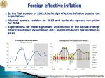 foreign effective inflation