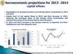 macroeconomic projections for 2013 2014 capital inflows