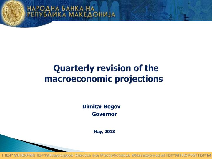 quarterly revision of the macroeconomic projections n.