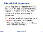 automatic lock management