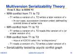 multiversion serializability theory
