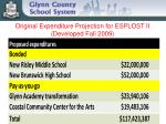 original expenditure projection for esplost ii developed fall 2009