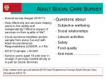 adult social care survey