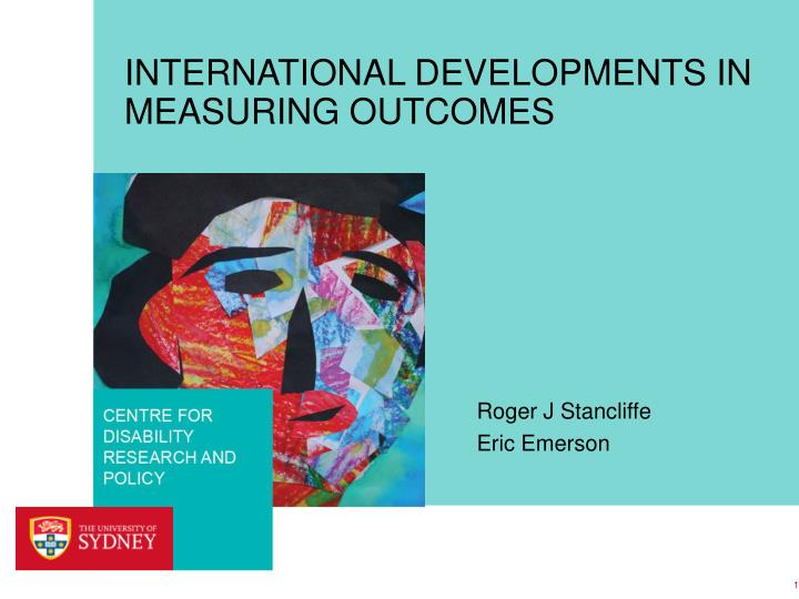 international developments in measuring outcomes n.
