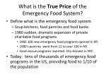 what is the true price of the emergency food system
