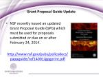 grant proposal guide update