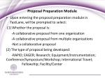 proposal preparation module