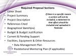 required proposal sections