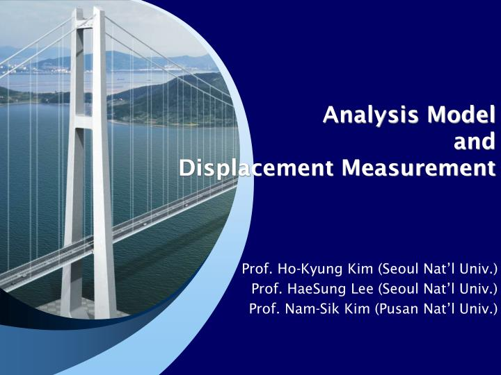 analysis model and displacement measurement n.