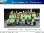 korean group and ibs supporters