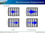 reconstructed displacements